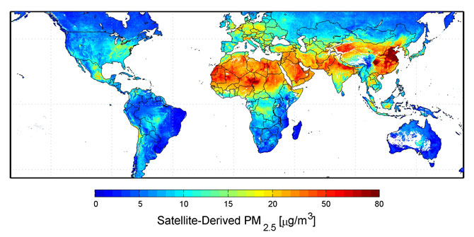 World pollution map 2