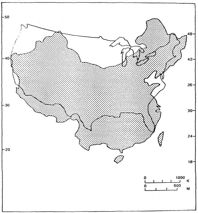 China and us map